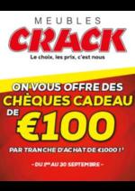 Bons Plans Meubles Crack : On vous offre des chèques cadeau