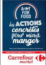 Prospectus Carrefour Market : Des actions concrètes pour mieux manger