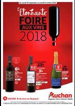Prospectus Auchan : L'étonnante foire aux vins 2018