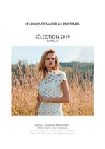 Prospectus Printemps : Collection Mariage Printemps 2019