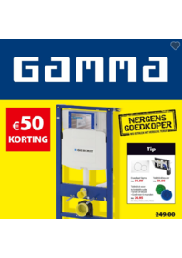 Prospectus GAMMA UCCLE : 50€ korting
