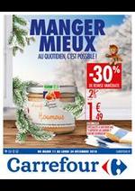 Prospectus Carrefour : Manger mieux au quotidien, c'est possible !
