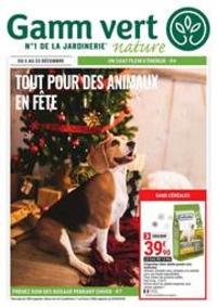 Prospectus Gamm vert PONTCHATEAU : Tout pour des animaux en fête
