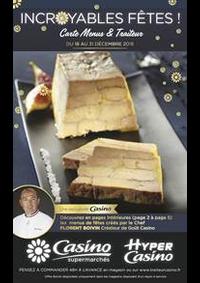 Prospectus Supermarchés Casino PARIS 352 RUE LECOURBE : Carte Menus & Traiteur