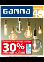 Prospectus GAMMA : Reduction sur tous les éclairages