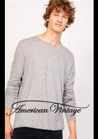 Prospectus American Vintage nogent sur marne : Collection Homme