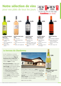 Prospectus Colruyt HANNUT : Notre sélection de vins