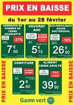 Prospectus Gamm vert : Prix en baisse