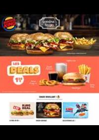 Prospectus Burger King St-Lazare Paris : Menus Burger King