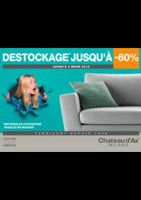 Promos et remises Chateau d'Ax GOSSELIES : DESTOCKAGE JUSQU'A -60%