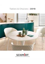 Prospectus  : Catalogue SCHMIDT Tables et Chaises 2019