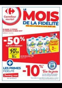 Prospectus Carrefour Market PARIS 102-104 AVENUE GENERAL LECLERC : Le mois de la fidélité 2