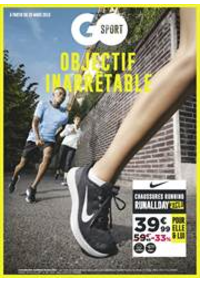 Prospectus Go Sport PARIS CHATILLON : Objectif Inarrêtable