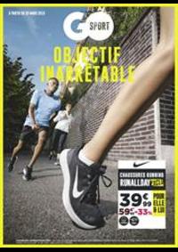 Prospectus Go Sport PARIS CHATILLON : Objectif Inarrêtable