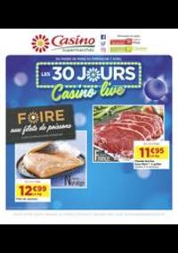 Prospectus Supermarchés Casino PARIS 352 RUE LECOURBE : Les 30 jours Casino live