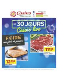 Prospectus Supermarchés Casino Vaujours : Les 30 jours Casino live