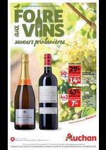 Prospectus Auchan drive : Foire aux vins, saveurs printanières