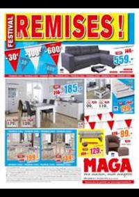 Prospectus Maga Meubles Dompaire : Festival des remises!