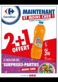 Prospectus Carrefour GENNEVILLIERS : Maintenant et moins cher ! Le meilleur des surprises-parties