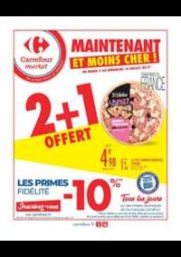 Prospectus Carrefour Market PARIS 102-104 AVENUE GENERAL LECLERC : 2 + 1 OFFERT