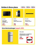 Prospectus DARTY : Soldes & Bons Plans