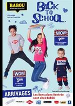 Prospectus Babou : Back to School