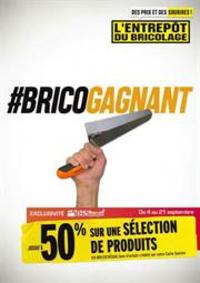 Prospectus L'entrepôt du bricolage Pontarlier : BricoGagnant