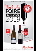 Prospectus Auchan drive : L'étonnante foire aux vins 2019 !