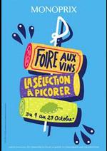 Prospectus Monoprix : Foire aux Vins