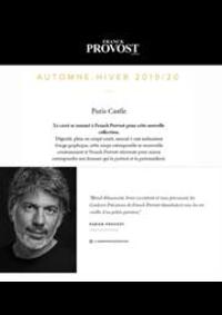 Prospectus Franck Provost PARIS 130 Boulevard Malesherbes : Automne - Hiver 2019/20
