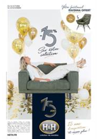 Prospectus H&H Cournon d'Auvergne : 15 ans d'inspirations et encore plus... -15% sur notre sélection