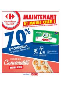 Prospectus Carrefour Market GUYANCOURT : Maintenant et moins cher !