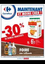 Prospectus Carrefour : Foire aux alcools
