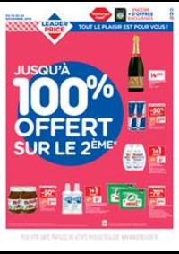Prospectus Leader Price Paris 172 RUE DE CHARENTON : Jusqu'à 100% offert sur le 2ème