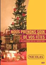 Prospectus Nicolas : Nous prenons soin de vos fêtes