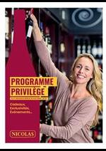 Prospectus Nicolas : Programme Privilège