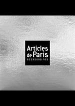 Prospectus Articles de Paris : Accessoires Femme