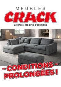 Promos et remises Meubles Crack : Conditions prolongées !