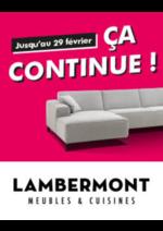 Promos et remises Meubles Lambermont  : Ça continue !