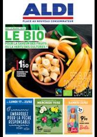 Prospectus Aldi Les Fins : Le BIO, pour la saveur des fruits ou la vertu des cultures