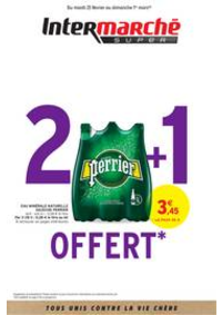 Prospectus Intermarché Super Douvaine : 2 + 1 OFFERT