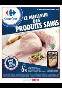 Prospectus Carrefour BOURGES : Manger sain mars