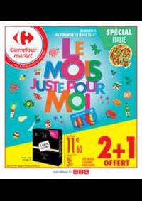 Prospectus Carrefour Market CACHAN : Le mois juste pour moi spécial Italie