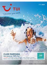 Promos et remises  : Brochure TUI Club Marmara Été 2020
