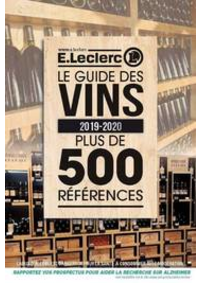 Prospectus E.Leclerc FRANCONVILLE : Le guide des vins 2019-2020