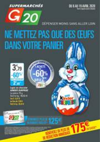 Prospectus G20 COURBEVOIE : Ne mettez pas que des œuf dans votre panier