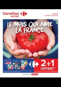 Promos et remises Carrefour Market LA CRAU : Le mois qui aime la France
