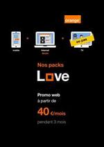 Prospectus Orange : Love Packs