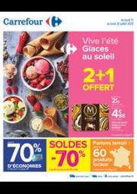 Promos et remises Carrefour GRUCHET LE VALASSE : Vive l'été - Glaces au soleil