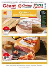 Prospectus Supermarchés Casino Clichy - Rue Martre : Casino soutient la production française